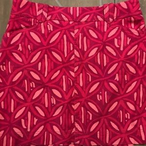 Lilly Pulitzer Pink denim style skirt size 8
